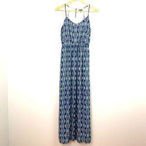 LILY ROSE Blue White Sheath Maxi Dress